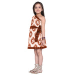 Afraa-1 Rust Frock for Girls