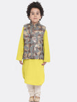 Adnan Yellow kurta Pajama Set for boys