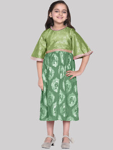 Agnes Green Designer Dress for Girls