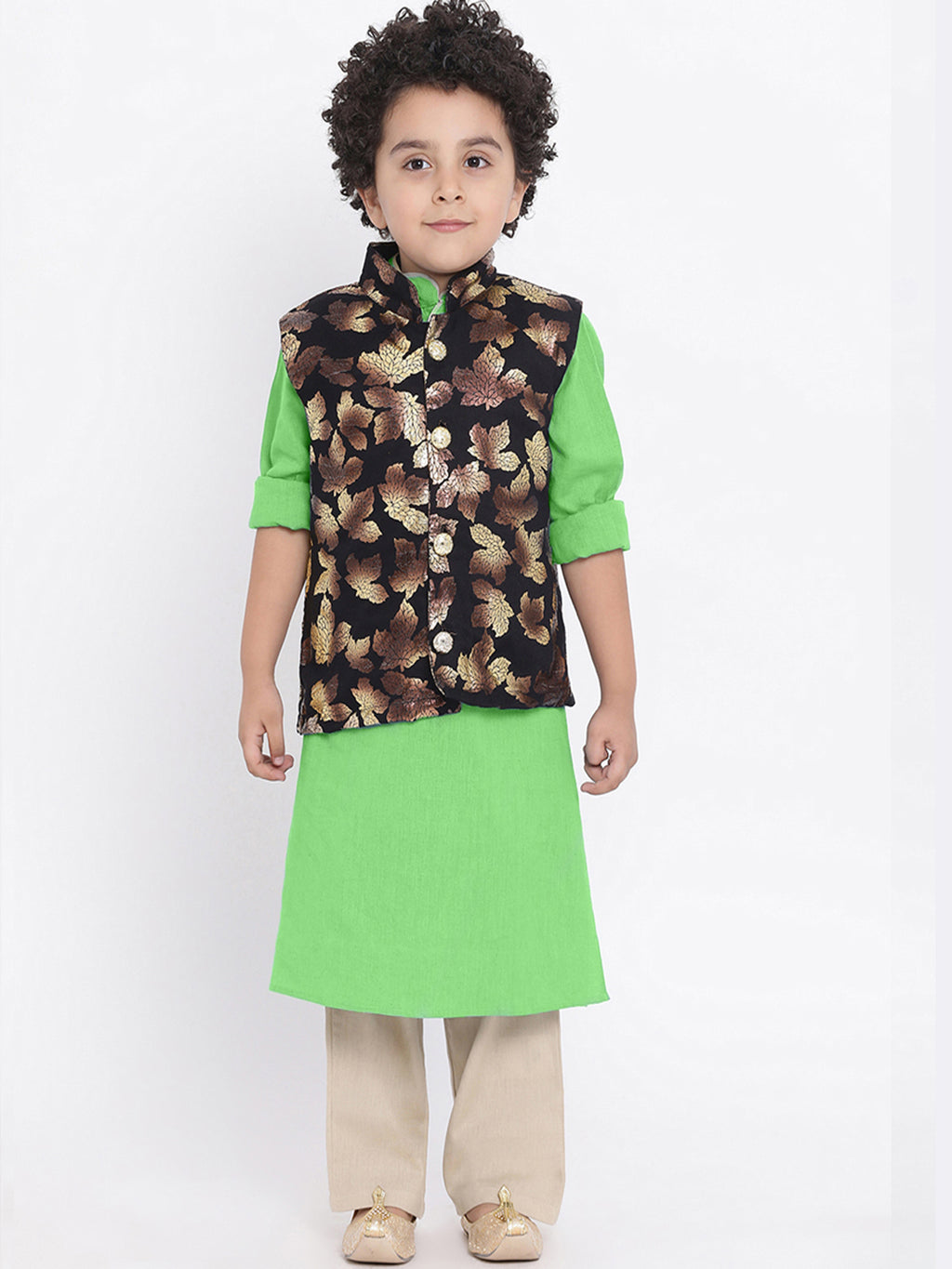 Agastya Green Kurta Pajama Set For Boys
