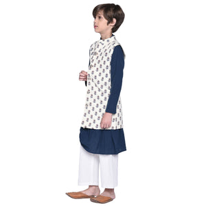 Kurta & Pajama with Jacket Set for Boys