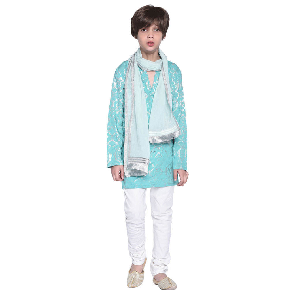 Kurta and Pajama With Stole Set for Boys