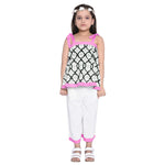 Florence Pink Crop Top & Palazzo Set for Girls