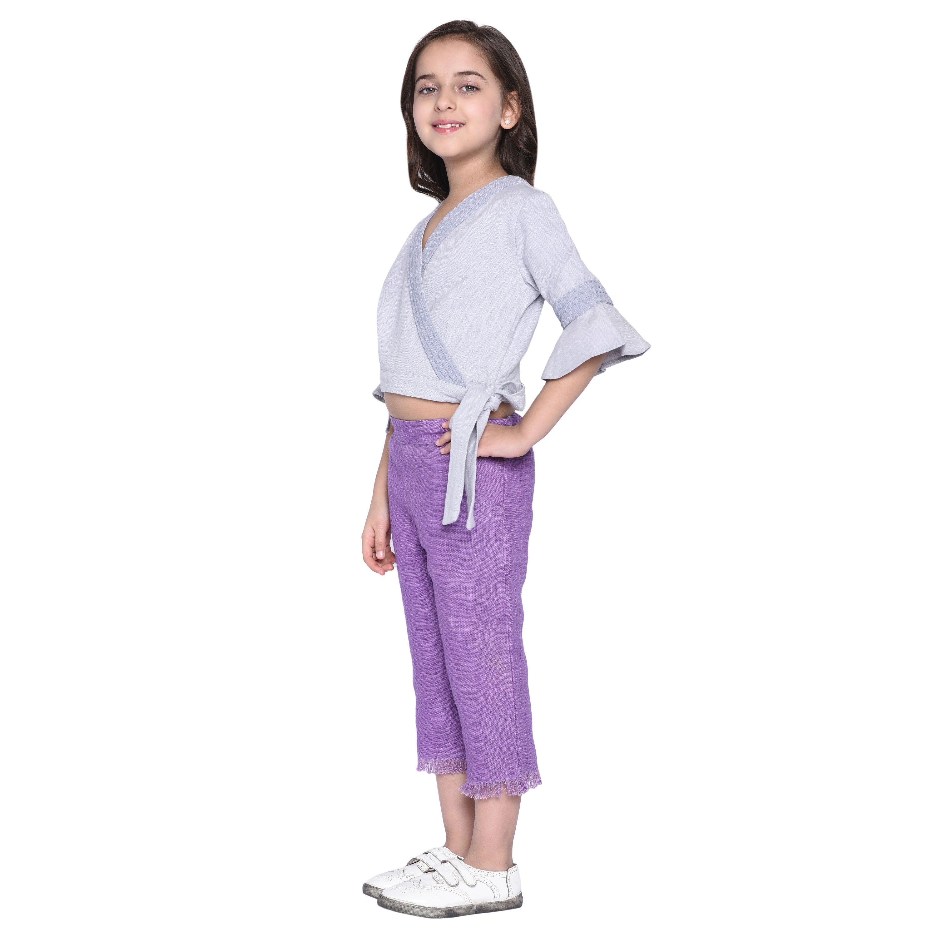 Darcie Crop Top & Capary Set for Girls