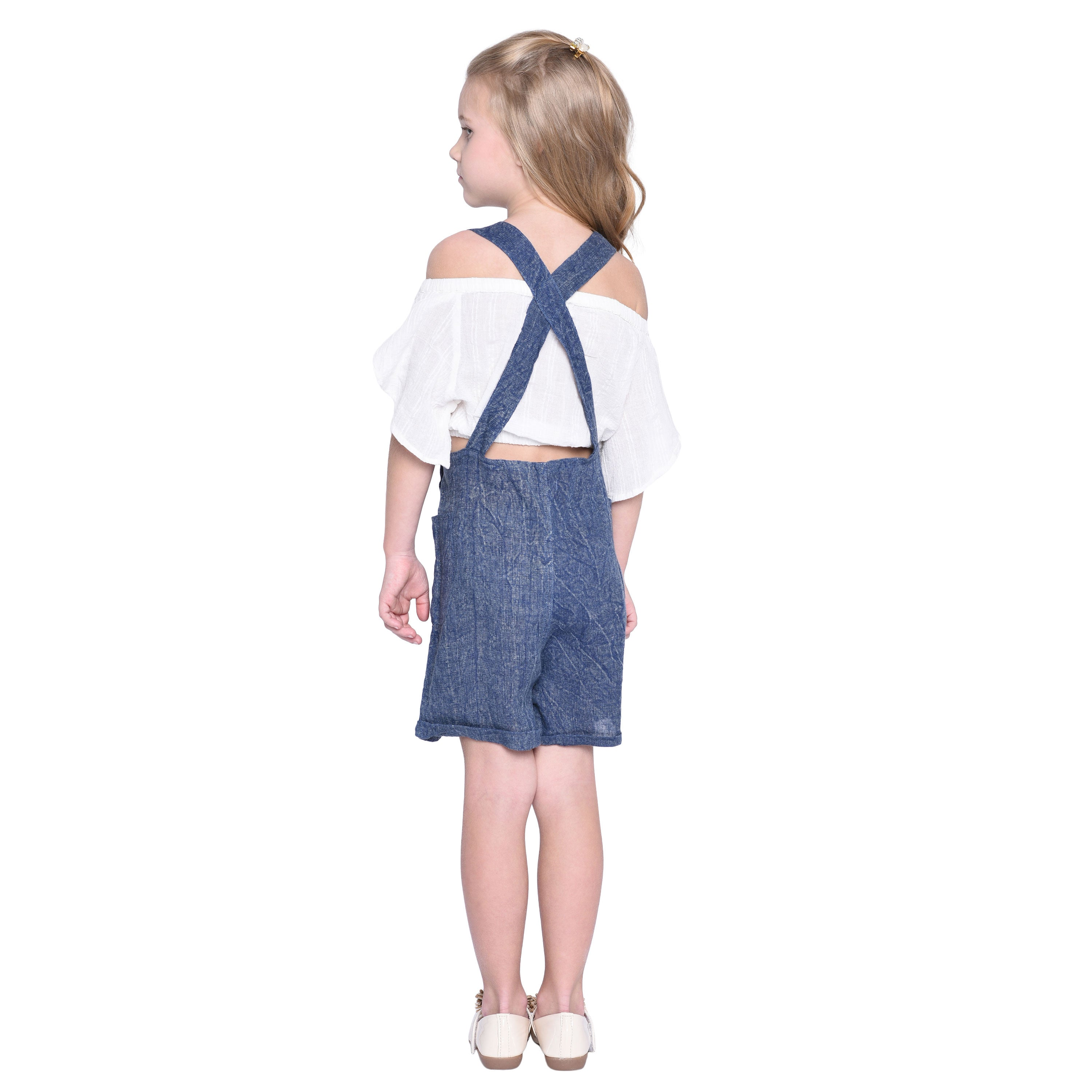 Flavia Crop & Pant Set for Girls
