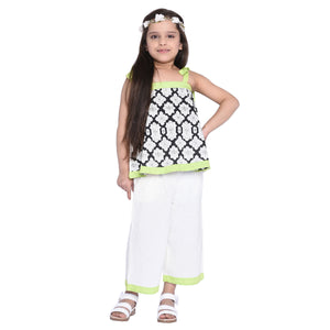 Florence Crop Top & Palazzo Set for Girls