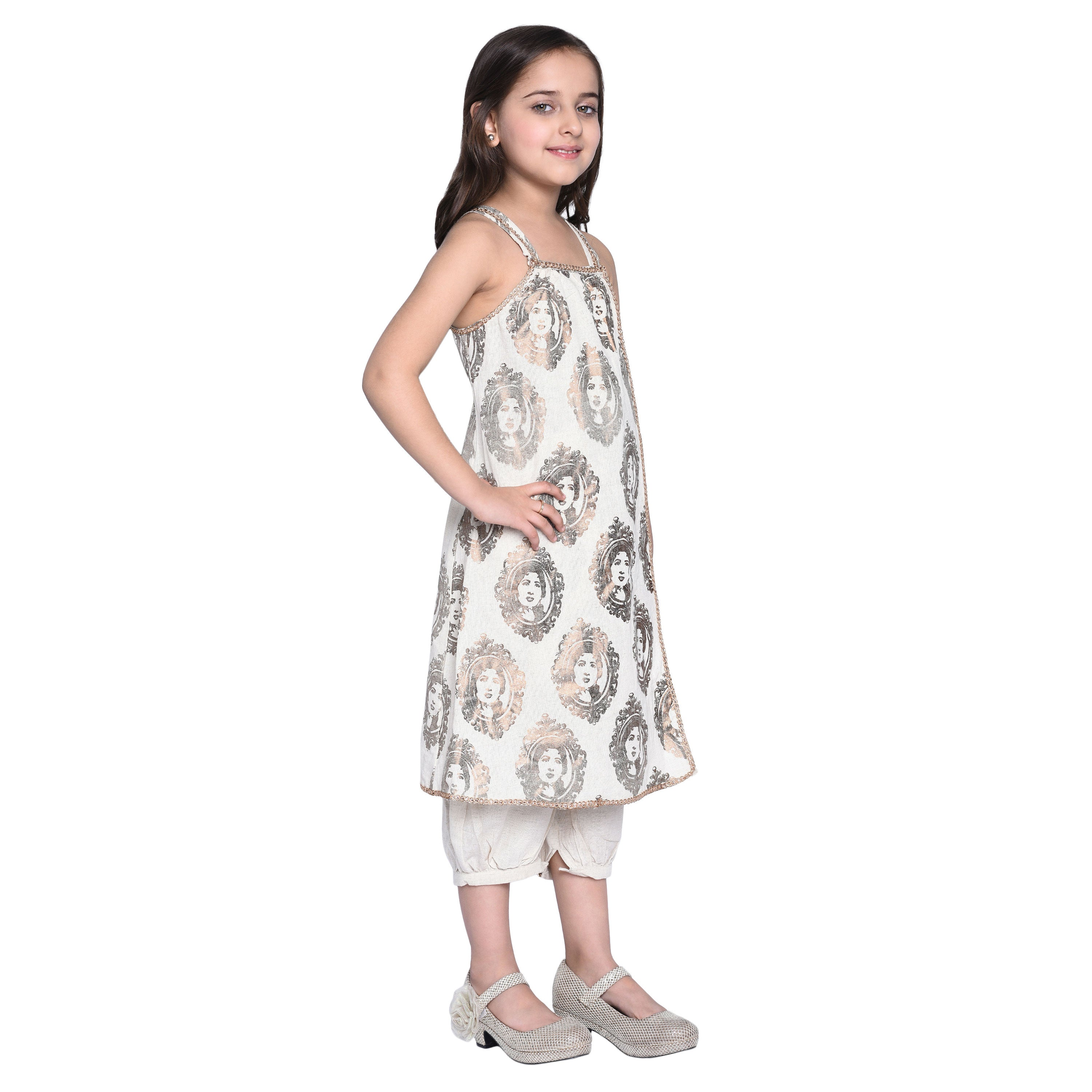 Galla Kurti &  Pajama Set for Girls