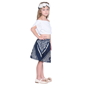 Gracia Crop top & Skirt set for Girls