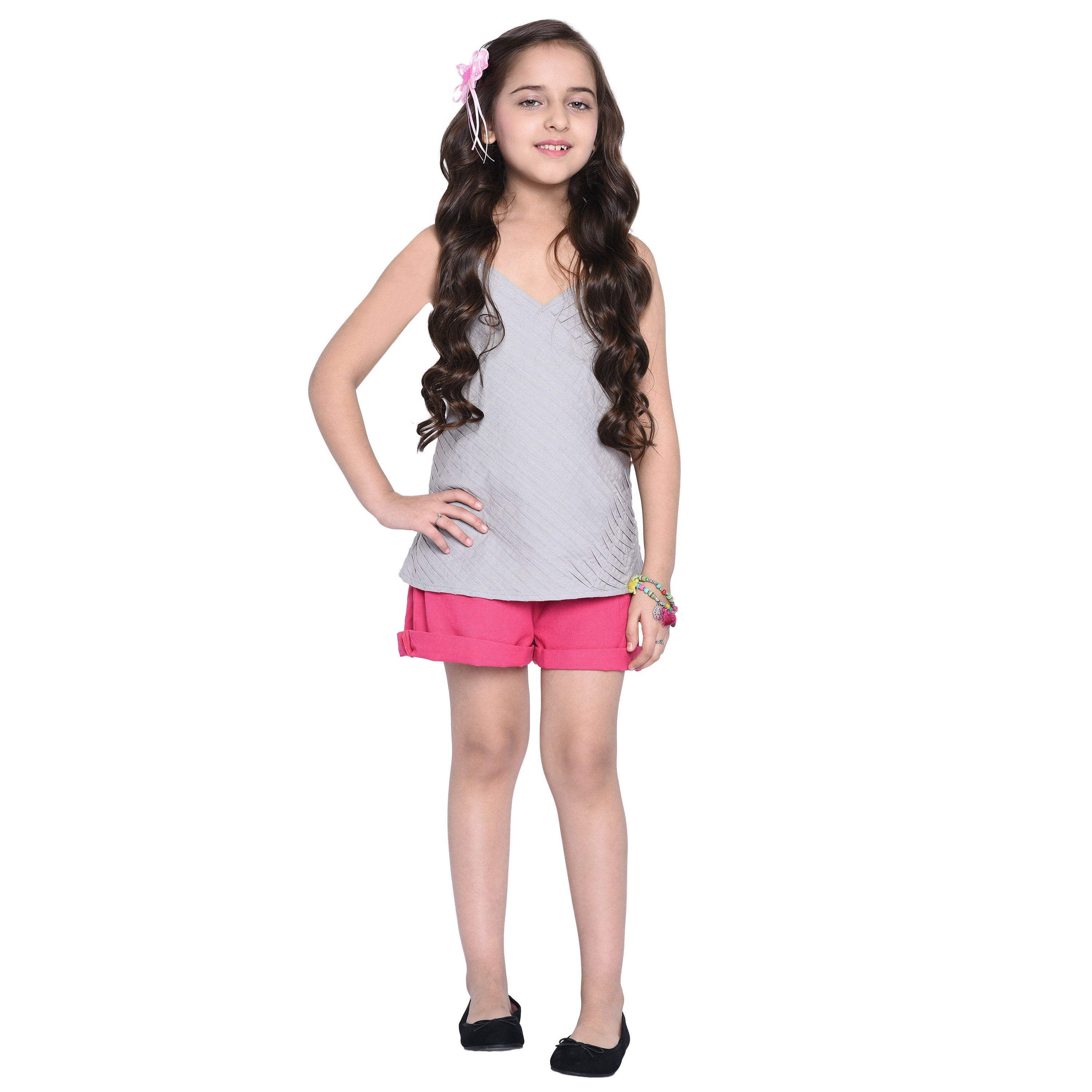 Illona Top & Shorts Set for Girls