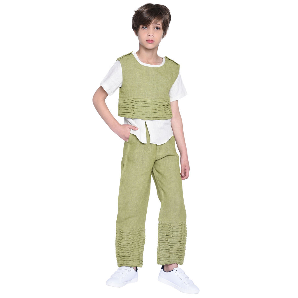Jasper Shirt & Pant with Jacket Set for Boys