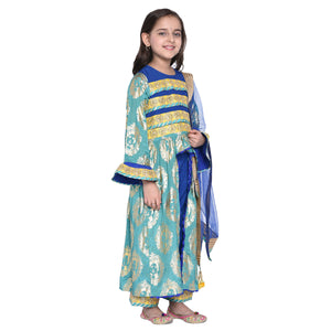 Jennesen Kurti & Palazzo with Dupatta Set for Girls