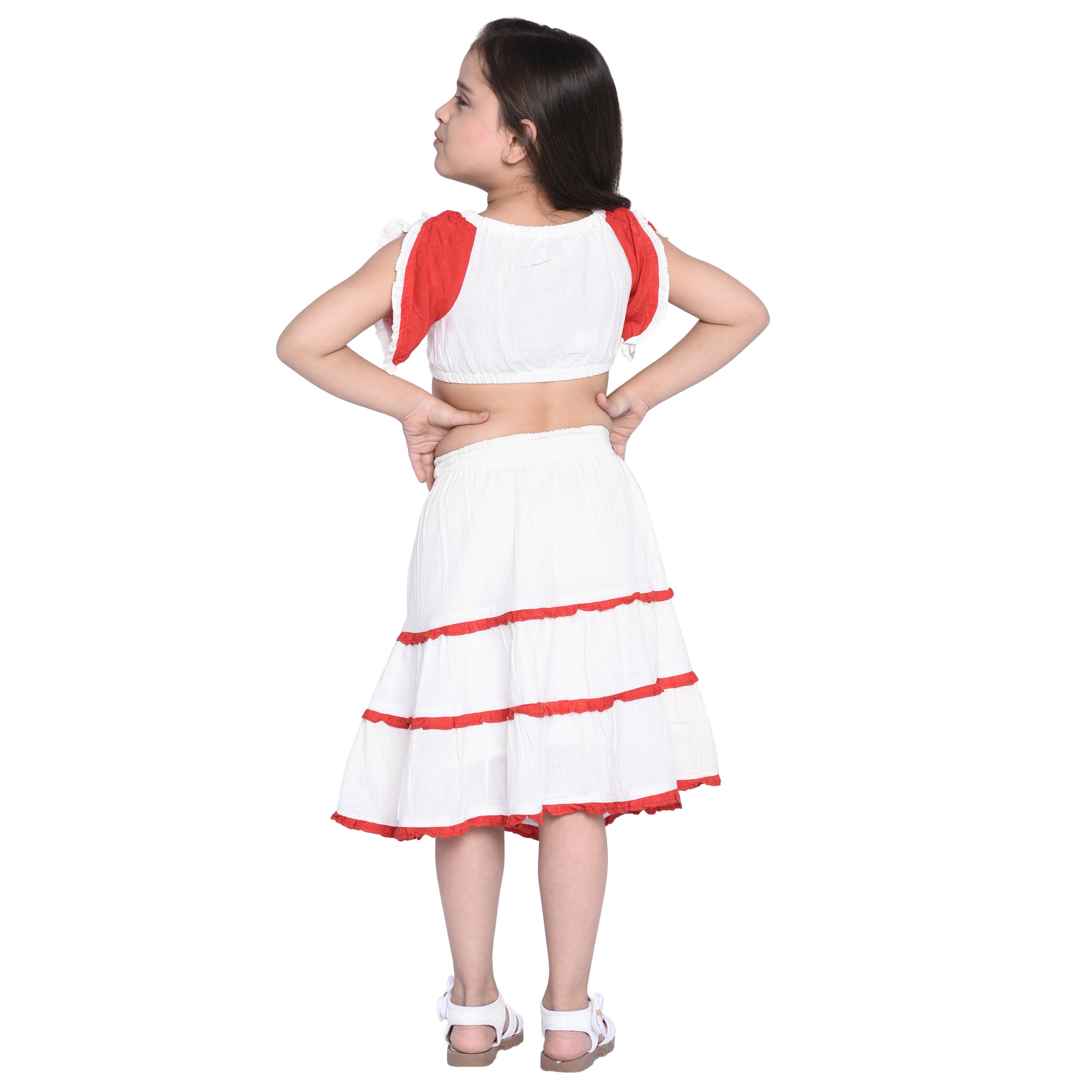 Leonor Crop top & Skirts Set for Girls