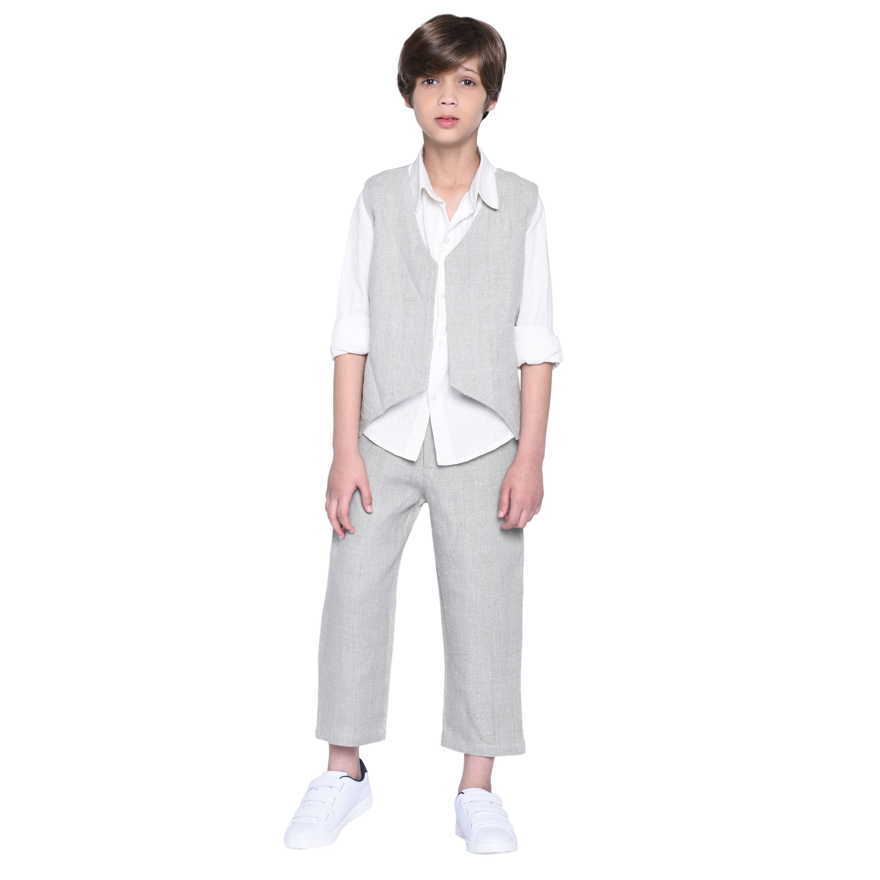 Liam Shirt & Pant with Jacket Set for Boys