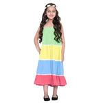 Layla Multi Dress & Shrug Set for Girls