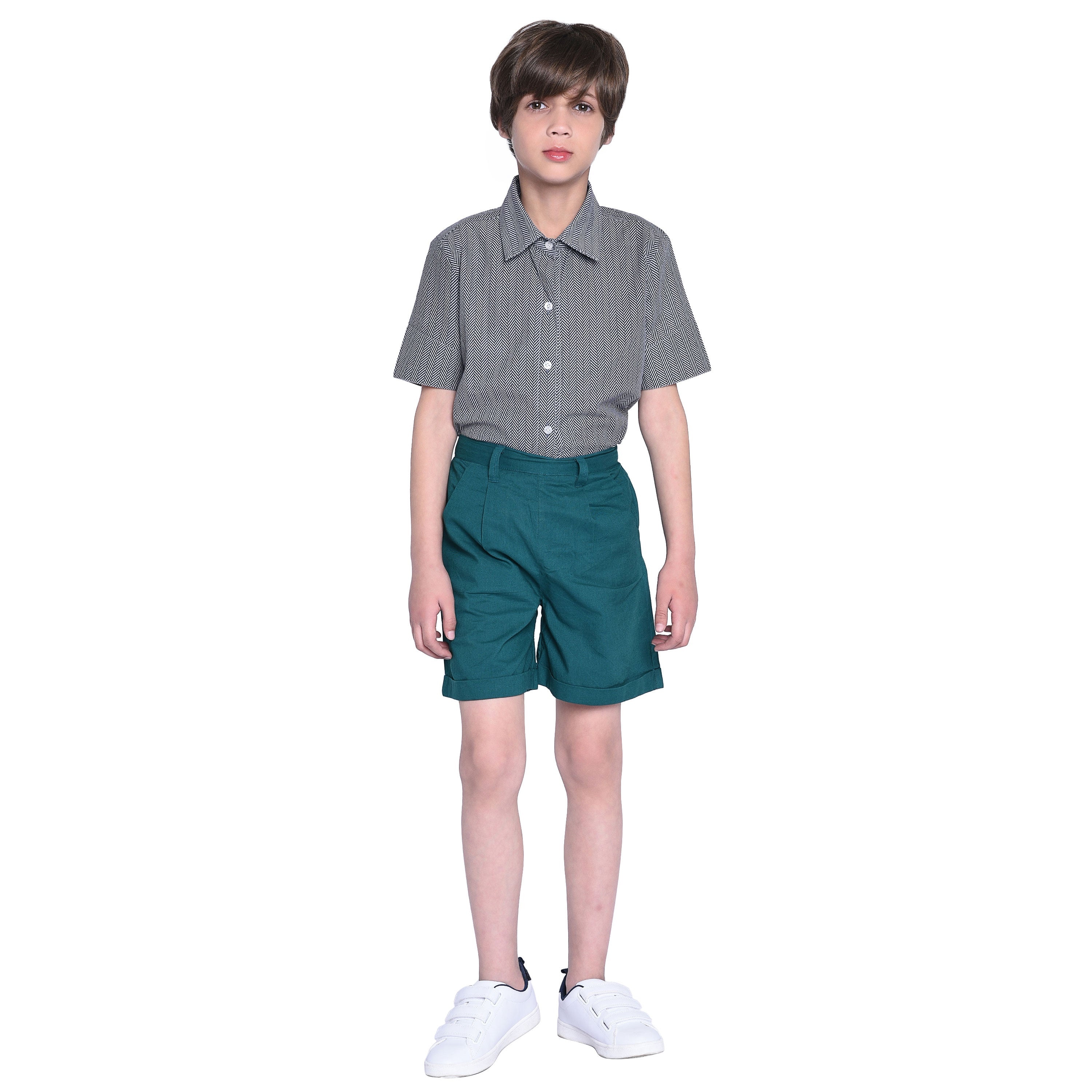Luke Shirt & Chino Short Set for Boys