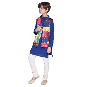 Marcello Kurta & Pajama with Jacket Set for Boys