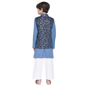 Matteo kurta & Pajama with Jacket Set for Boys