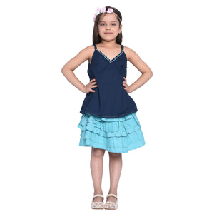 Melissa Top & Skirt Set for Girls