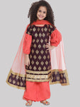 Noor Kurta with Haram Pant and Dupatta set for girl