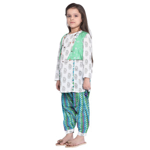 Nordika Kurti & Pajama with Shrug Set for Girls