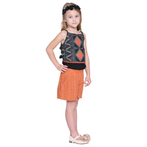 Poli Top & Shorts Set for Kid Girls age 2-12 years