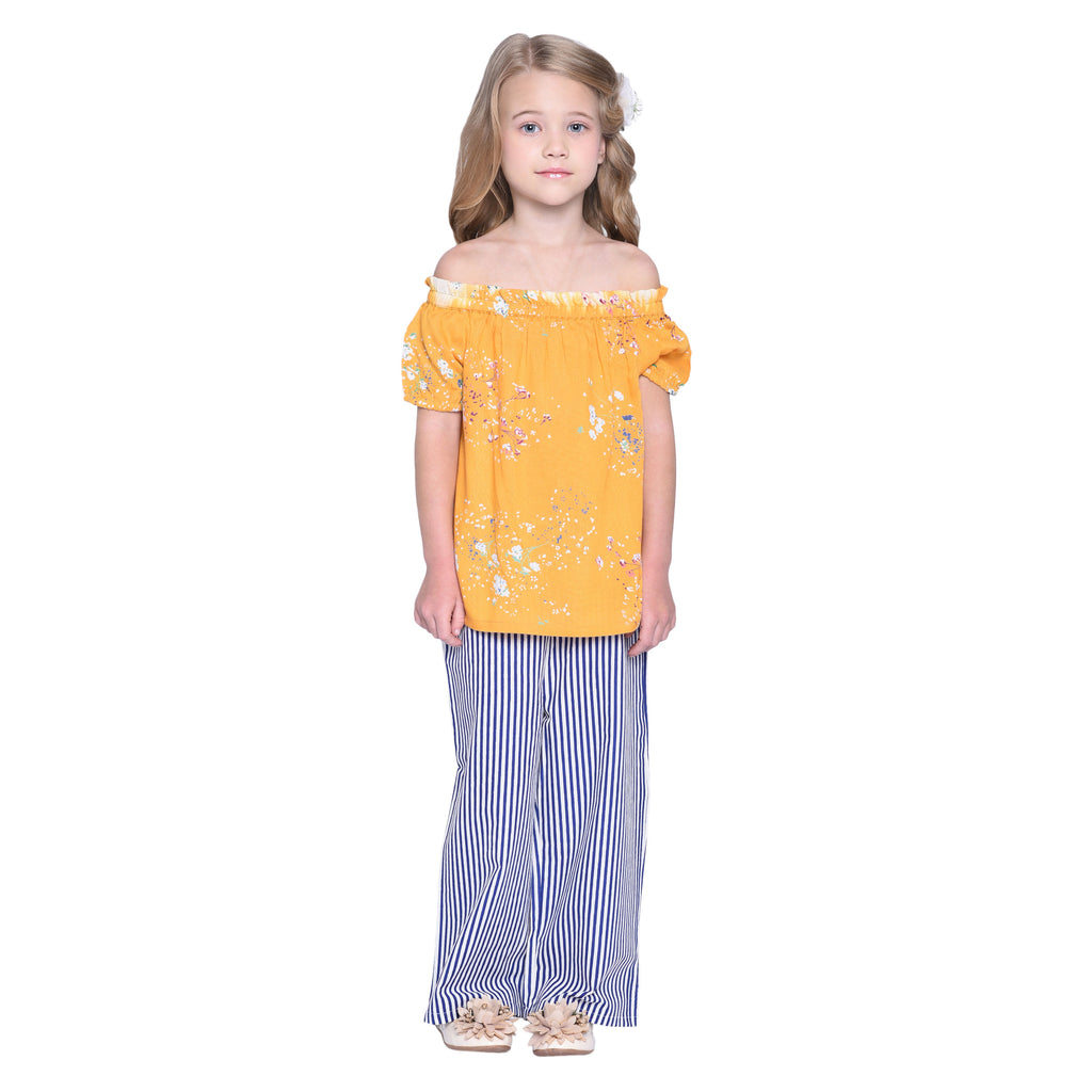 Rheta Top & Palazzo Set for Girls