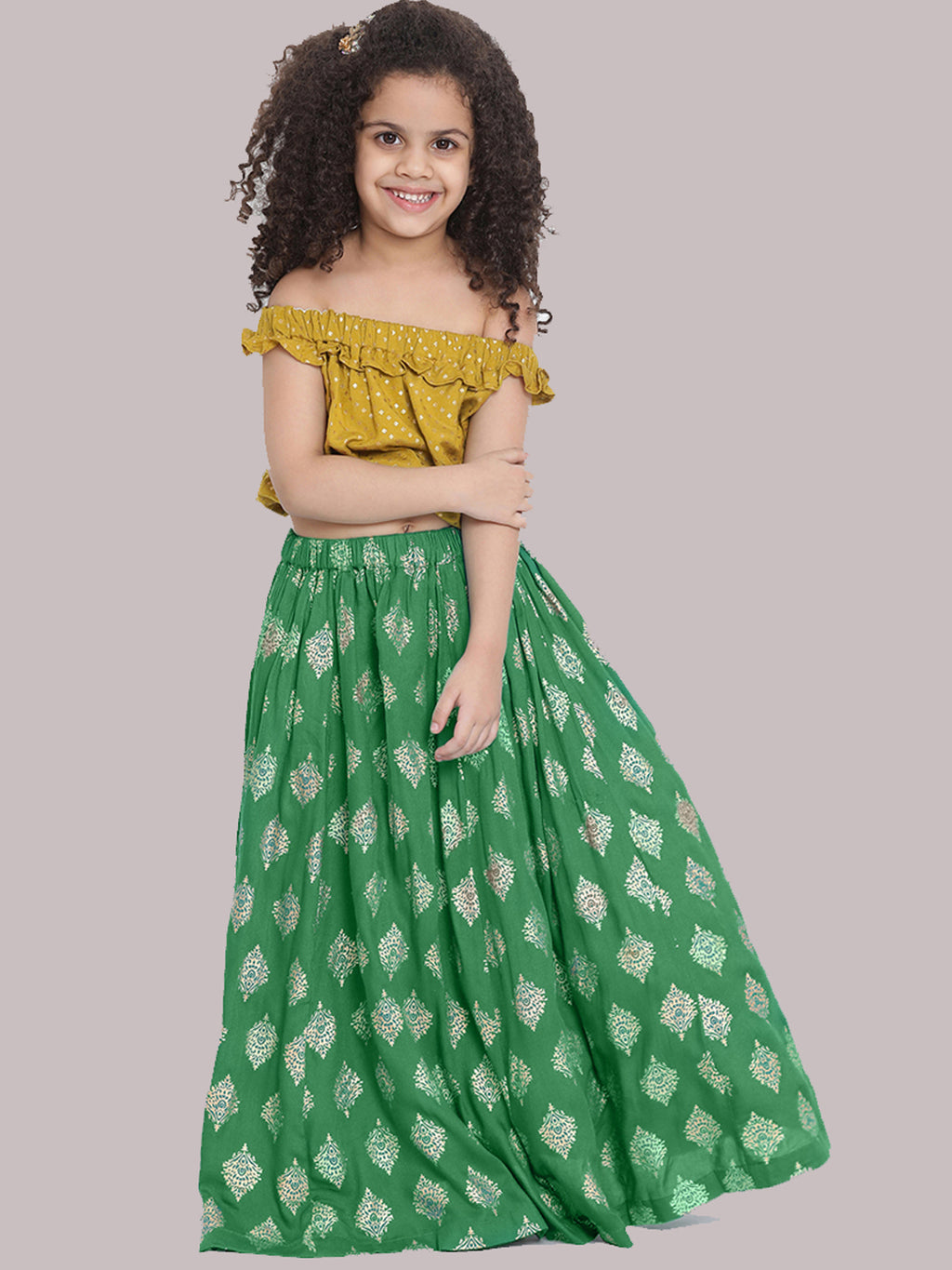 Sarah Green Lehenga choli set for Girls