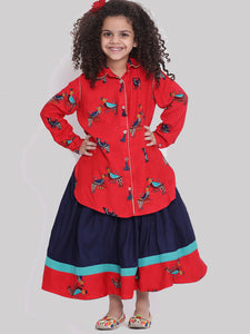 Tanika Skirt with shirt dress for Girls
