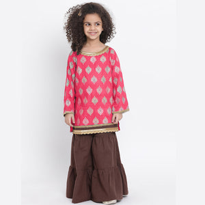 Kurta with Sharara and Dupatta