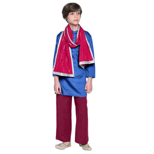 Hector red Ethnic Kurta Pajama with Stole for Boys
