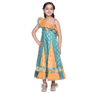 Rakel Multi color Ethnic Dress for Girls