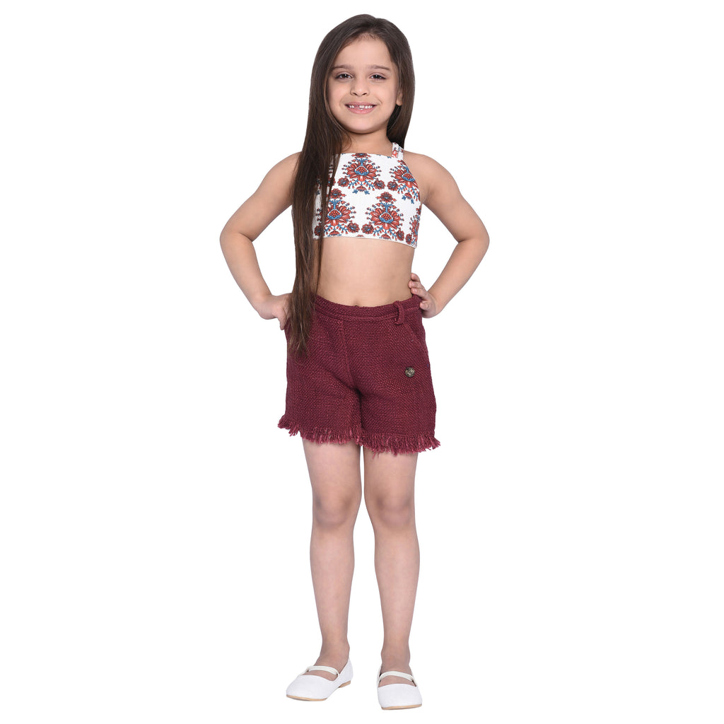 Valeria Top & Shorts Sets for kid Girls age 2-12 years