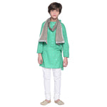 Dex Aqua Kurta & Pajama with Stole Set for Boys