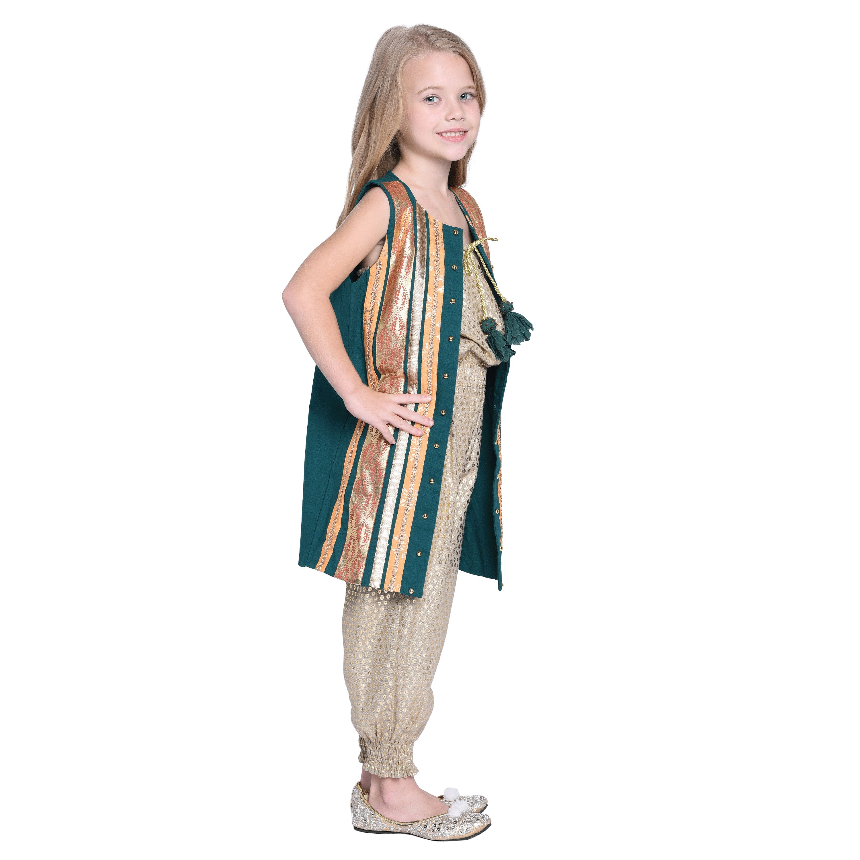 Karla Jumpsuit with jacket Set for Girls