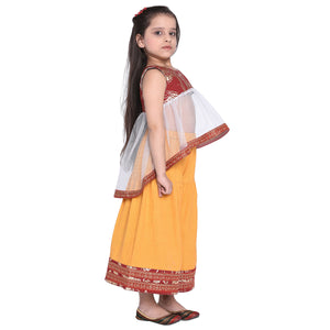 Pepin Ethnic Kurti & Palazzo Set for Girls