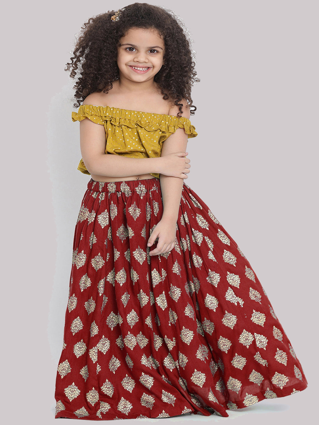 Sarah red Lehenga Choli set for Girls