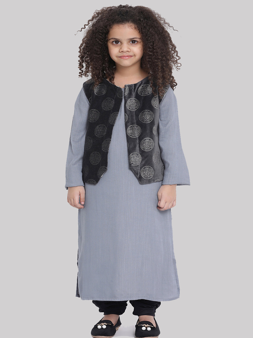 Urvi Kurta pajama with shrug for Girls