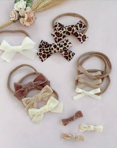 Scandi Velour Bows