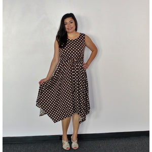 Emma & Michelle Brown/White Polka Dot Dress