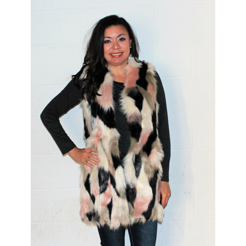 Camo Fun Faux Fur Vest