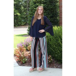 Lola P Striped Pants
