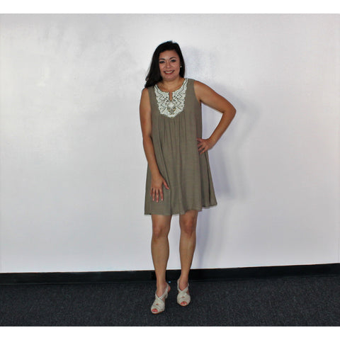 Luxology Taupe Dress
