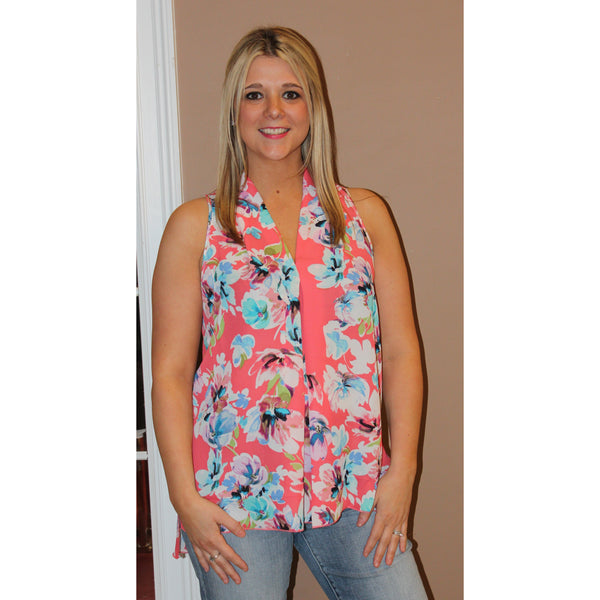 Emma G Sleeveless Floral Top
