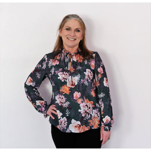 Emma & Olivia Green Floral Top