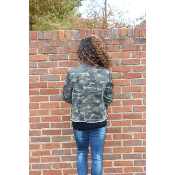 Baccini Fringe Bottom Camo Jacket