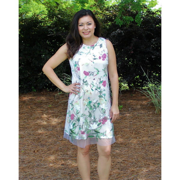 Spense White/Pink Floral Dress