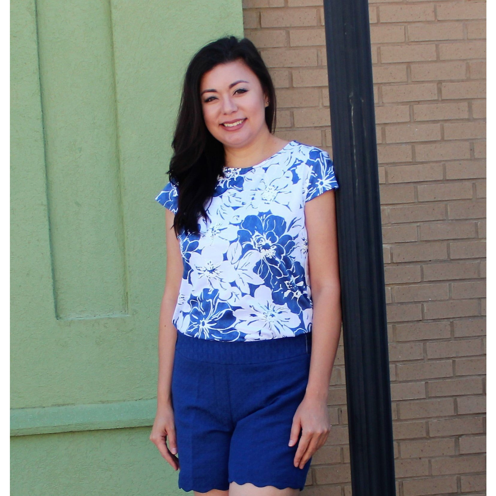 Harlow & Rose Blue/White Top