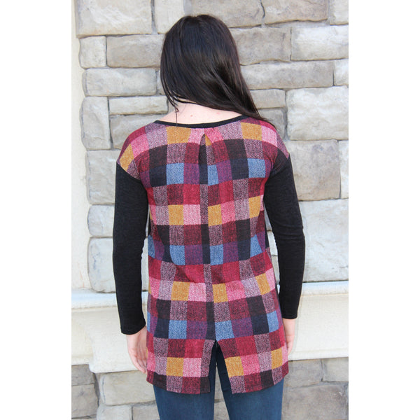 Vision Colorblock Back Sweater