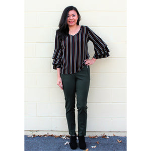 Office Chic Zip Pocket Slacks