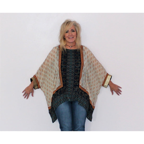 Melissa Paige Printed Poncho Top